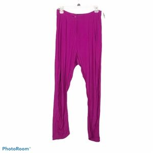 Vivienne Westwood fuschia high waisted trousers